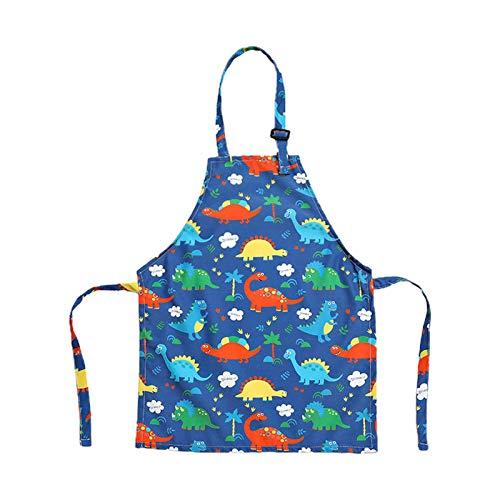 DEARLOYEA Lindo avental infantil ajustável de algodão para meninos e meninas e crianças aventais