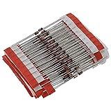 Senmubery Juego surtido de diodos Zener de 1 W (3 V a 33 V), 250 piezas, 25 valores, 1 W, surtido