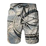 Jiger Mens Beach Shorts Clocks and Watches Parts Swim Trunks Boardshort PantsXL