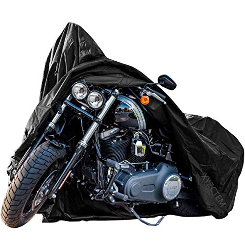 New Generation Motorcycle cover  XYZCTEM All Weather Black XXXL Large Waterproof Outdoor Protects Fits up to 118 inch for Harley Davidson Honda SuzukiYamaha and More