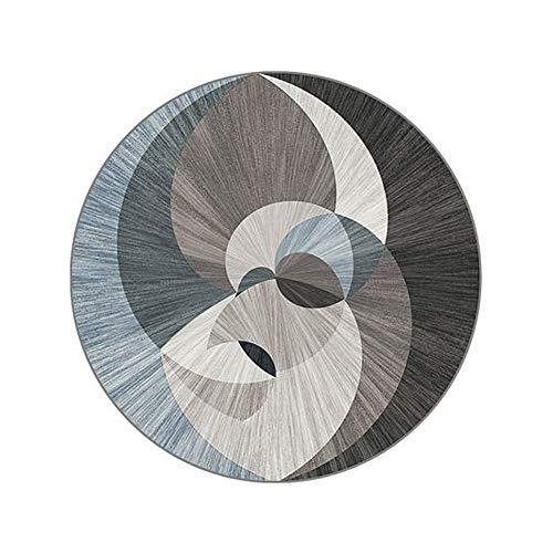ZHANG Hong Carpet Moderne rug met non-vilt, oppervlak, eenvoudig te reinigen en te reinigen, slijtvast, ademend weefsel Vari-formaat (160 cm diameter) 12,5 tapijt