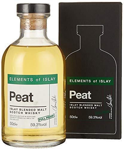 Elements of Islay Peat Full Proof 59.3% Blended Whisky (1 x 0.5 l)
