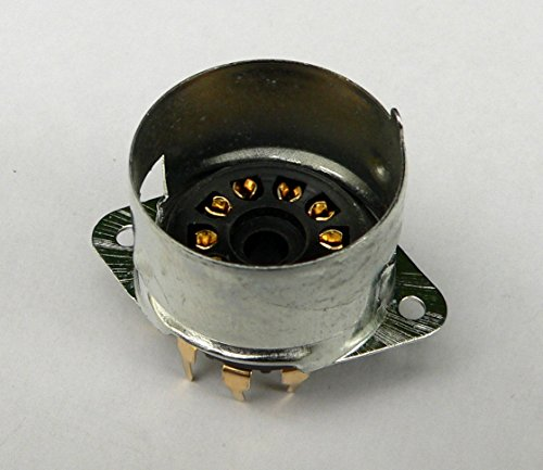 Jellyfish Audio B9A plint 9 pin Goud PCB mount klep Socket voor Marshall versterkers