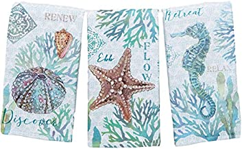 Kay Dee Designs Set of 3 Beachcomber Dual Purpose Terry Kitchen Towels