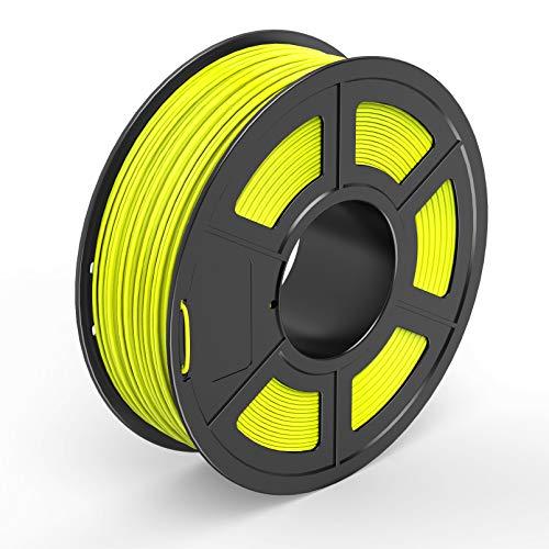 TECBEARS PLA 3D Printer Filament 1.75mm Yellow, Dimensional Accuracy +/- 0.02 mm, 1 Kg Spool, Pack of 1