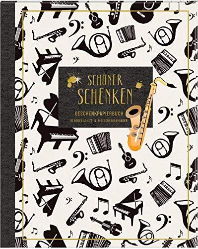 Geschenkpapier-Buch - Schöner schenken (All about music): 10 Geschenkpapiere für Musikliebhaber