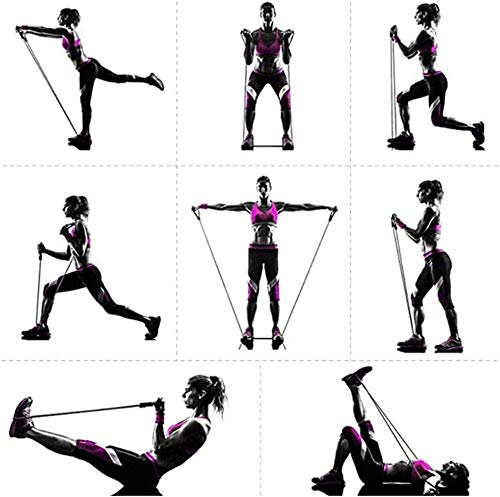 VR7 Exercise Resistance Bands Set, Fitness Stretch Workout Bands 11PC with Fitness Tubes, Foam Handles, Ankle Straps, Door Anchor for Home Gym Fitness, Physical Therapy, Up to 150 lbs