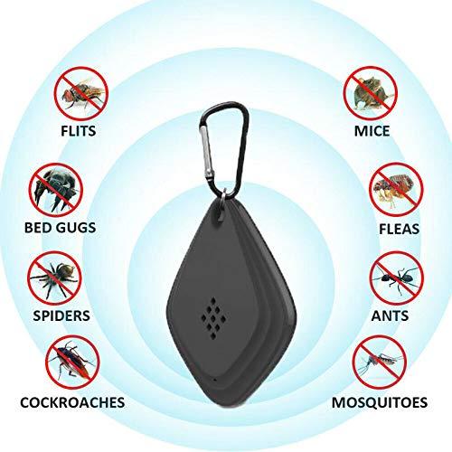 Ashey Ultraschall-Schädlingsbekämpfer, Anti-Mückenschutz-Ultraschallelektronik für den Außenbereich, Plötzenkontrolle, USB-Ladeabwehrmittel für Gartenbedarf