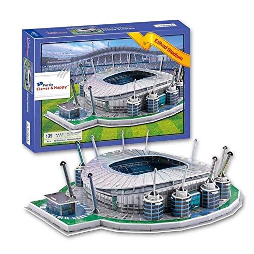 FFSM Manchester City Stadium, DIY 3D Fußball-Stadion-Modell Puzzle, Vorschullernspielzeug plm46