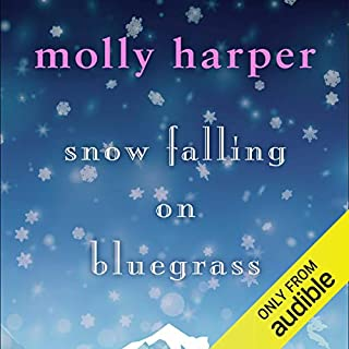 Snow Falling on Bluegrass audiobook cover art