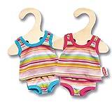 Heless 9110 - Unterwäsche für Puppen, in blau oder pink gestreift, sortiert, Größe 20 - 25 cm