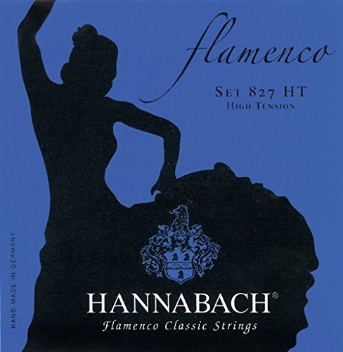 Hannabach Cuerdas Para Guitarra Clasica, Serie 827 Tension Alta Flamenco Classic - Juego 3 Cuerdas Graves Re4+La5+Mi6
