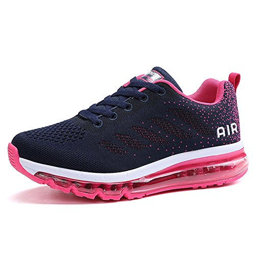 Unisex Scarpe da Ginnastica Basse Sneakers Sportive Running Fitness Gym Shoes(833Pink40)