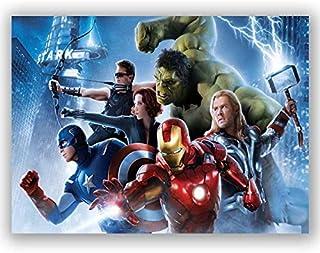 Box Prints Avengers película enmarcada Lienzo Pared Arte impresión Color Imagen