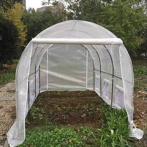 LQQ Tomaten tomatenhaus Großes Gewächshaus für Den Garten Im Freien, Gewächshaus für Obst, Gemüse, Blumen, Pflanzen, Gewächshaus mit 6 Fenstern und 2 Türen, 360 × 215 × 220cm
