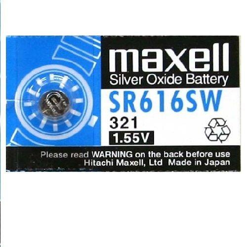 Pila maxell de Boton oxido Plata 321 SR616SW