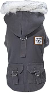 Trudz Pet Dog Hoodies, Work Clothes, Thickened Dog Overall, Dog Military Uniform, Army Hoodie Sweater, Cotton Jacket Fur Coat for Small Dog & Medium Dog & Cat