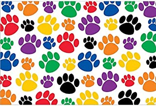 Teacher Created Resources Colorful Paw Prints Postcard (4799)