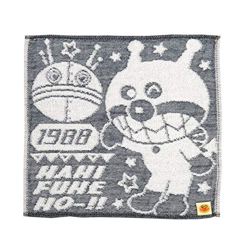 アンパンマン デニム ガーゼ ミニタオル ハンカチ ハンドタオル 日本製 キッズ こども ベビー 子供 綿100 ばいきんまん ドキンちゃん コキンちゃん だだんだん おでかけ baby anpanman (ばいきんまん)