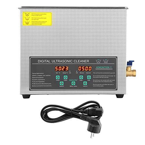 Yosoo Health Gear Pulitore Ad Ultrasuoni, 6L Pulitore Ad Ultrasuoni Digitale, 6L Pulitore Ad Ultrasuoni Digitale a Doppia Frequenza in Acciaio Inossidabile Macchina per la Pulizia Spina UE 220V