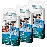 HP Lot de 60 feuilles (3 rames) de papier adhésif pour HP Sprocket