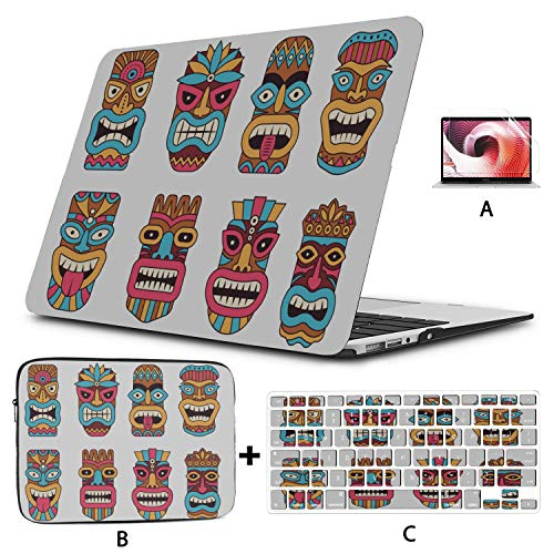 Mac Book Accessories Symbol of Primitive Tribe Totem Cover MacBook Air Hard Shell Mac Air 11'/13' Pro 13'/15'/16' with Notebook Sleeve Bag for MacBook 2008-2020 Version