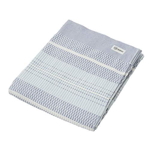 西川 リビング タオルケット シングル 泉州 オーガニックコットン ブルー 無農薬 綿 パイル 日本製 NC35 203002142