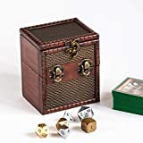 KakapopoTCG M01B Wood Single Deck and Counter Box for Deck Protector Storage Trading Cards TCG Ultra Pro Sleeve MTG Magic The Gathering Pokemon YGO Yugioh Vanguard Fantasy Coin EDH Dice