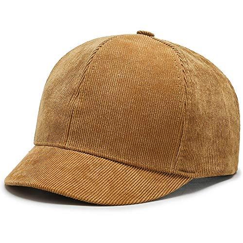 maozuzyy Gorras De Hombre Sombrero Gorra De Béisbol De ala Corta Sombrero De Papá De Pana Sólida Gorras De Golf para Hombres Sombreros De Hip Hop De Otoño para Mujeres-Amarillo