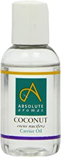 Absolute Aromas Fractionated Coconut Oil 50ml 100 Pure Unscented and Natural Carrier Oil For Massage Aromatherapy and Blen...
