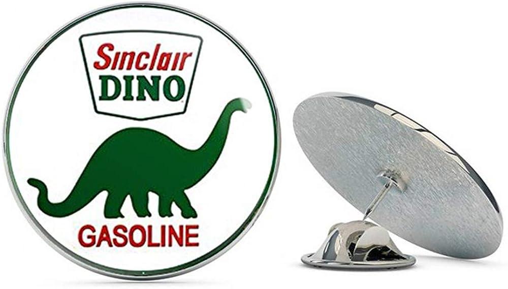 NYC Jewelers Round Vintage Sinclair Dino Gas (Gasoline Logo Old Rat Rod) Metal 0.75