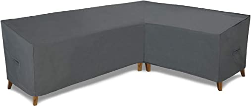Patio Watcher Sectional Lounge Set Cover, Durable and Waterproof Patio Furniture Sectional Right Sofa Cover, Grey