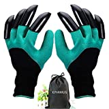 Garden Genie Gloves, Waterproof Garden Gloves with Claw For Digging Planting, Best Gardening Gifts for Women and Men. (Green)