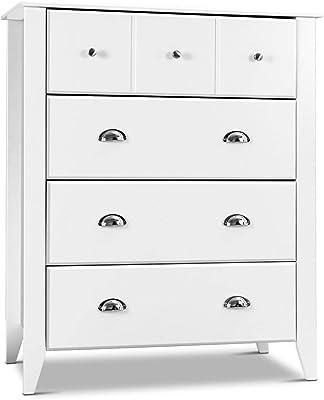 4-Drawer Dresser Modern Chest Bedroom Storage Wood Furniture closet NEW
