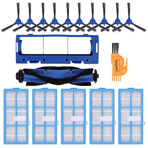 KEEPOW 18 Zubehör Passend für KYVOL E20 E30 E31 Staubsauger Roboter,5 HEPA-Filter, 10 Seitenbürsten, 1 Rollenbürste, 1 Rollenbürstenschutz und 1 saubere Bürste