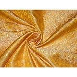 Brokat Liturgische Kleidung Stoff Golden Gelb und Creme