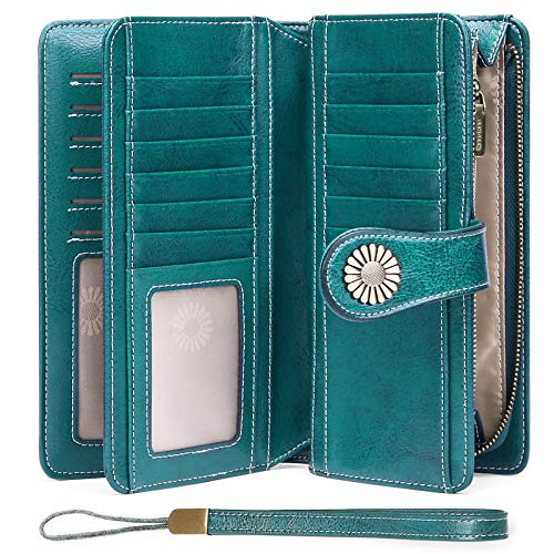 Women s Wallets, Large Capacity with RFID Blocking, Genuine Leather by SENDEFN