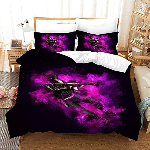 Duvet Covers King Size 240 x 220 cm Bedding set by Microfiber CSGO with 2 Pillowcases 50 x 75 cm with Zipper Printing Duvet Cover set