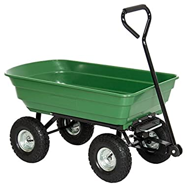Best Choice Products 650LB Garden Dump Cart Wheelbarrow Wagon Carrier Air Tires Heavy Duty