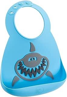 Make My Day Silicon Crumb Catcher Baby Bib Shark