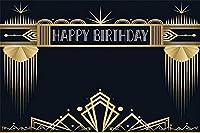 新しい7x5ft素晴らしい誕生日の背景20th 30th 40th 50th 60th 70th 80th写真の背景男の子女の子紳士男性レディ女性誕生日写真画像boothプロップデジタル壁紙