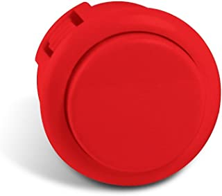 Sanwa Silent 30mm Replacement Arcade Push Button for Mad Catz Fight Sticks - Silent Red 1pc