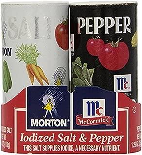 Morton's 4 oz. Salt and McCormick 1.25 oz. Pepper Shakers 2 Bundles