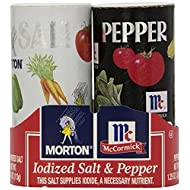 Morton's 4 oz. Salt and Mccormick 1.25 oz. Pepper Shakers 2 Bundles