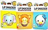 Lip Smacker Disney Tsum Tsum Lip Balm, Dumbo/Donald Duck/Tigger, Bundle of all 3