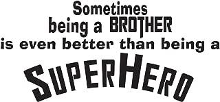 Empresal Superhero Brother Vinyl Wall Quote Decal Kids Room Decor Superhero Saying