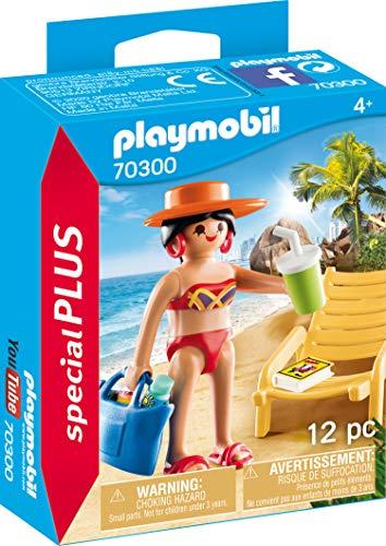 PLAYMOBIL Special Plus 70300 Urlauberin mit Liegestuhl, ab 4 Jahren