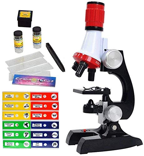 Little World Science Kits for Kids Beginner Microscope Kit with LED 100X 400X and 1200X Magnification Kids Educational Toy Birthday