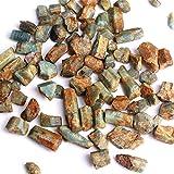 JINYIWJ Cristal áspero 30 g Natural Azul áspero Chips de Aguamarina Crudo triturado Piedra curación espécimen joyería de Cristal Mineral decoración del hogar (Color : Rough Aquamarine, Size : 100g)