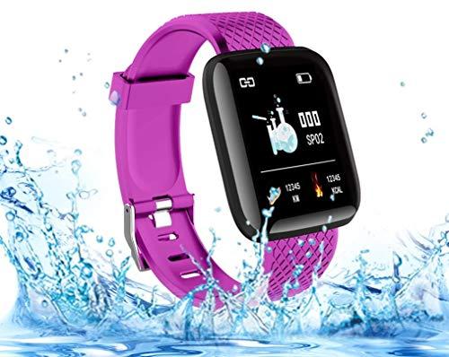 Langguth Smartwatch in der Farbe Lila, Fitness Armbanduhr, 1.3 Zoll Fitness Tracker mit EKG, Wasserdicht IP67 Fitnessuhr Sportuhr, Smart Watch für Damen Herren für Android i-OS